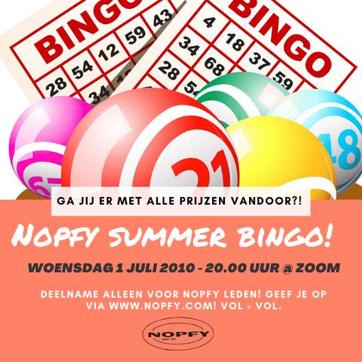 NOPFY Zomer Bingo!
