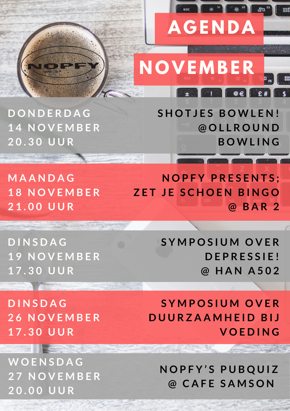 Agenda November!